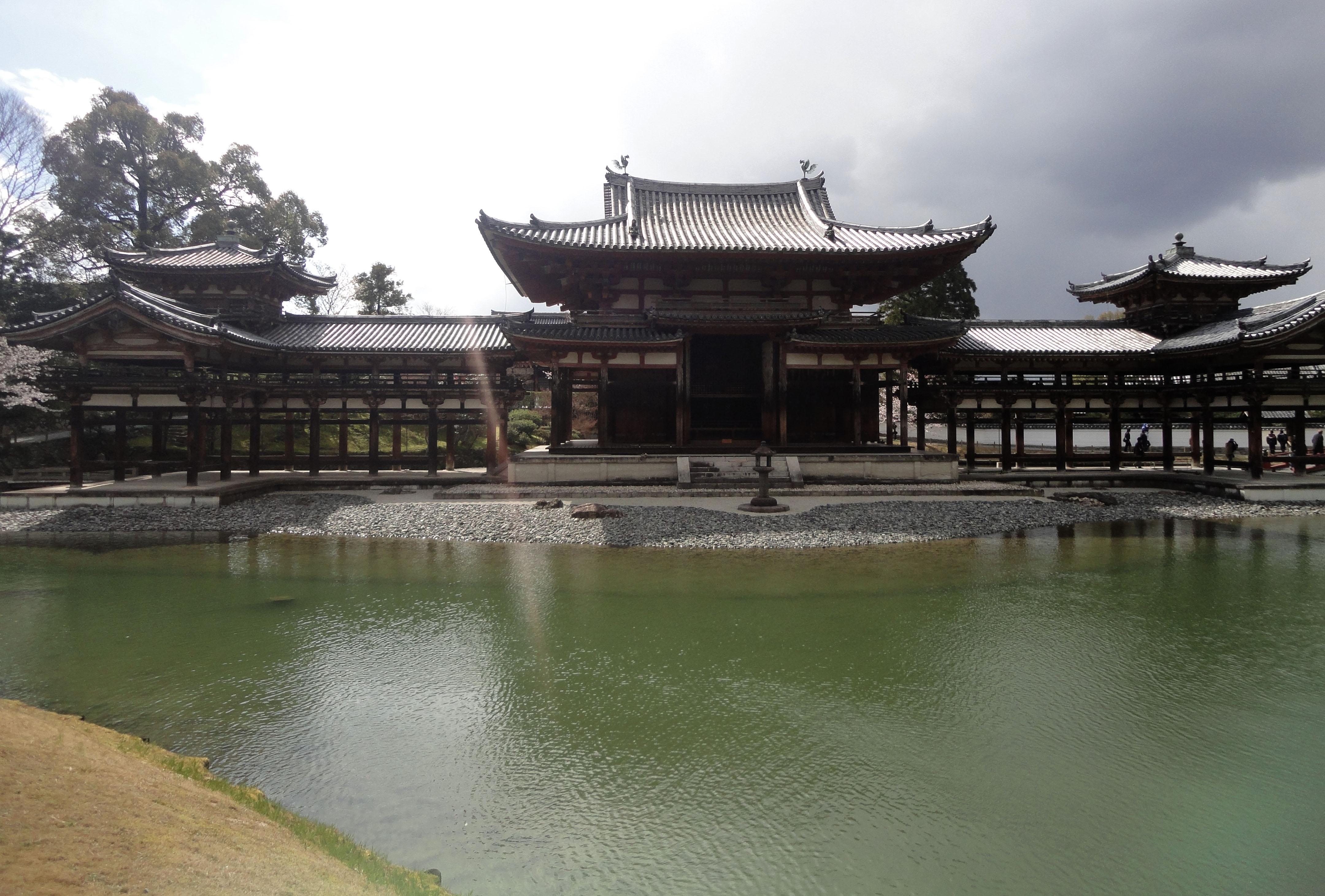 Byodo in temple Phoenix Hall Jodo shiki garden pond Kyoto Japan 04