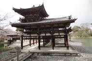 Asisbiz Byodo in Buddhist temple right side entrance Phoenix Hall Kyoto Japan 03