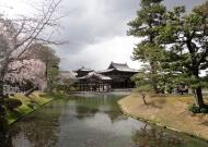 Asisbiz Byodo in temple Jodo shiki garden walkway facing Phoenix Hall Kyoto Japan 02