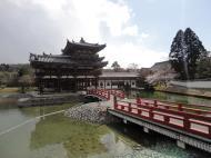 Asisbiz Byodo in temple Phoenix Hall left entrance walkway Kyoto Japan 01