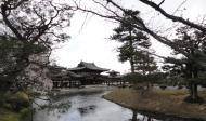 Asisbiz Byodo in temple outer path Phoenix Hall Jodo shiki garden pond Kyoto Japan 03