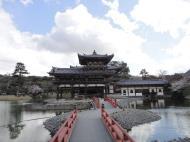 Asisbiz Byodoin temple Phoenix Hall left entrance walkway Kyoto Japan 01