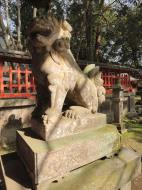 Asisbiz Walk from Nigatsu do to Kasuga taisha stone Lion guardian Nara 01