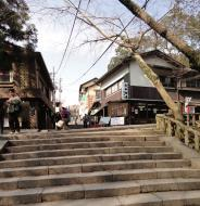 Asisbiz Walk from Nigatsu do to Kasuga taisha tea houses and restaurants 02