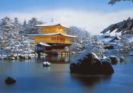 Asisbiz 0 Postcards Kinkaku ji Winter