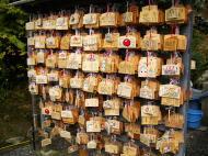 Asisbiz Kinkaku ji Temple prayer board Kyoto Japan Nov 2009 01