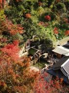 Asisbiz Kiyomizu dera Otowa no taki spring waterfall Kyoto Nov 2009 04