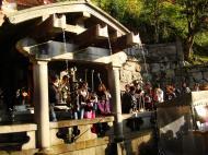 Asisbiz Kiyomizu dera Otowa no taki spring waterfall Kyoto Nov 2009 09