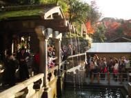 Asisbiz Kiyomizu dera Otowa no taki spring waterfall Kyoto Nov 2009 10