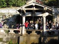 Asisbiz Kiyomizu dera Otowa no taki spring waterfall Kyoto Nov 2009 13