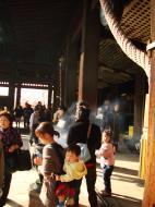 Asisbiz Otowa san Kiyomizu dera main hall shrine room Nov 2009 02
