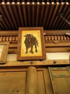 Asisbiz Nigatsu do etched wooden paintings this one is of a bull Nara 01