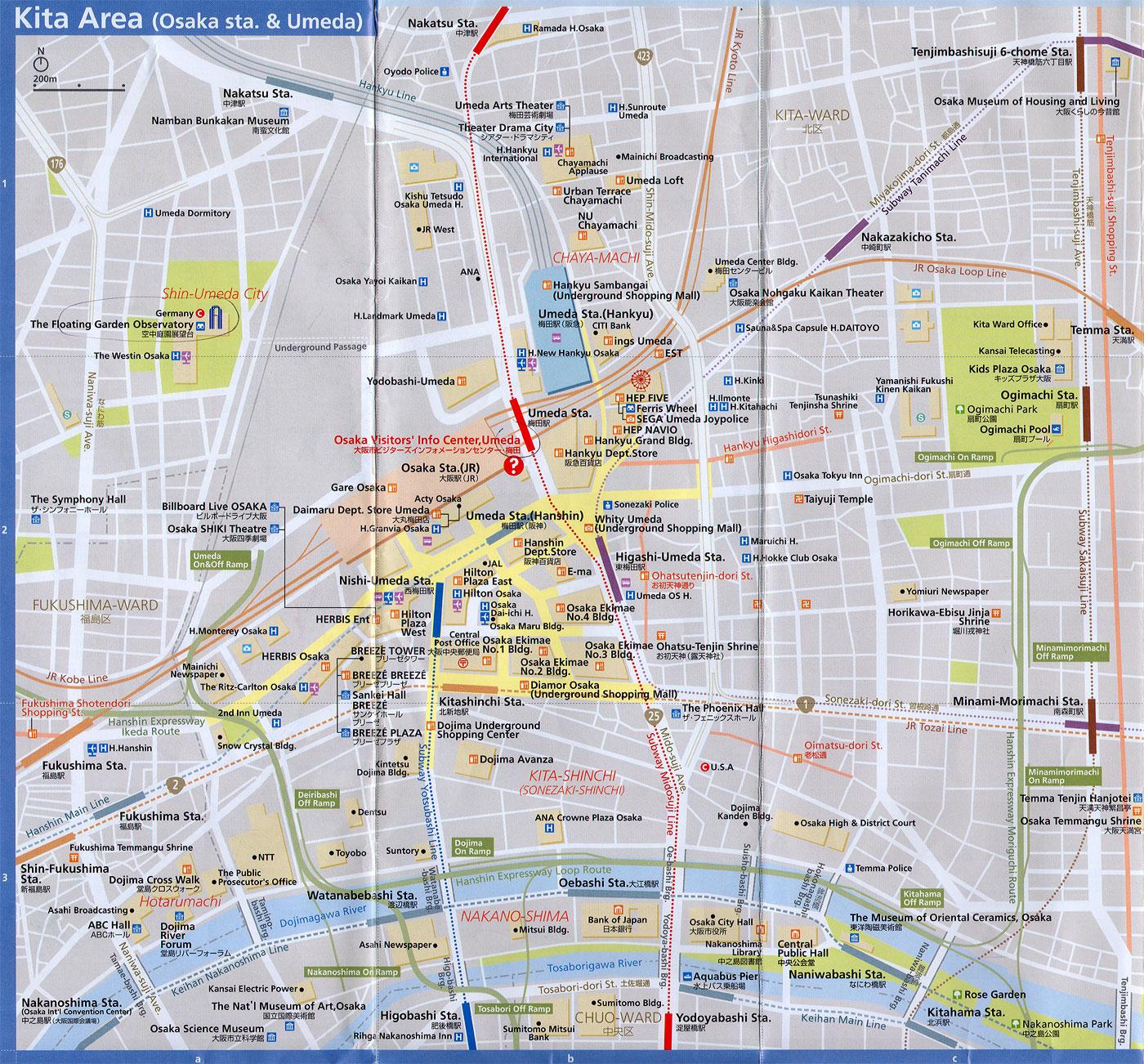 Subway Map 2009.Asisbiz 0 Kita Area Railway And Subway Map Brochure Nov 2009