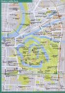 Asisbiz 0 Osaka Castle Area Railway and Subway Map Brochure Nov 2009