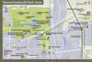 Asisbiz 0 Tsurumiryokuchi Park Area Railway and Subway Map Brochure Nov 2009