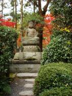Asisbiz Rokuon ji Temple Gardens main Buddha Kyoto Japan Nov 2009 01