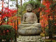 Asisbiz Rokuon ji Temple Gardens main Buddha Kyoto Japan Nov 2009 05