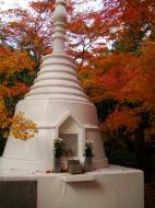 Asisbiz Rokuon ji Temple Gardens main pagoda Kyoto Japan Nov 2009 01