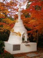 Asisbiz Rokuon ji Temple Gardens main pagoda Kyoto Japan Nov 2009 03