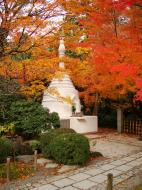 Asisbiz Rokuon ji Temple Gardens main pagoda Kyoto Japan Nov 2009 07