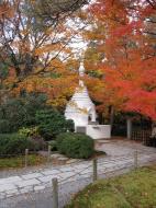 Asisbiz Rokuon ji Temple Gardens main pagoda Kyoto Japan Nov 2009 10