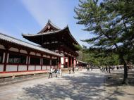 Asisbiz 1 Todai ji Buddhist temple complex middle gate to the daibutsuden outside 01