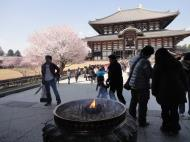 Asisbiz 1 Todai ji main walkway incense urn middle gate Nara Japan 01