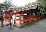 Ujigami shrine area temple grounds outer buildings Kyoto Japan 01