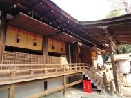 Ujigami shrine main hall building Uji Kyoto Japan 01