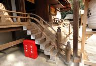 Ujigami shrine main hall building Uji Kyoto Japan 02