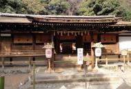 Ujigami shrine main hall building Uji Kyoto Japan 03