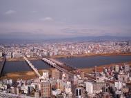 Asisbiz NTT Bridge and Juso Bridge Osaka Japan Nov 2009 01
