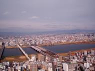 Asisbiz NTT Bridge and Juso Bridge Osaka Japan Nov 2009 02