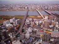 Asisbiz NTT Bridge and Juso Bridge Osaka Japan Nov 2009 05