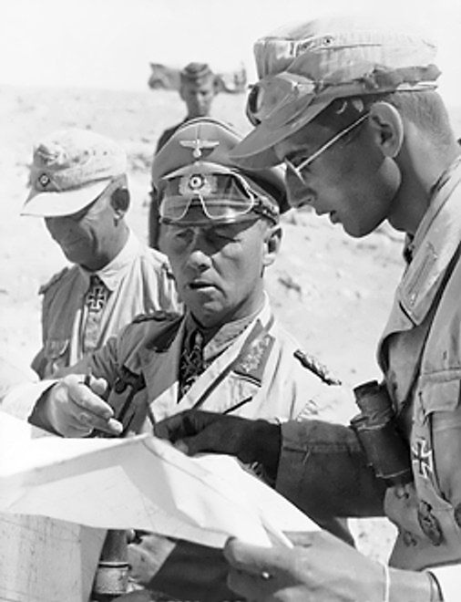 5 Erwin Rommel with his aides North Africa 01