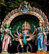 Hindu statues Selangor Sri Subramaniam Kovil Batu Caves Malaysia Dec 2011 01