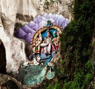 Hindu statues Selangor Sri Subramaniam Kovil Batu Caves Malaysia Dec 2011 02