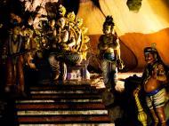 Hindu statues Selangor Sri Subramaniam Kovil Batu Caves Malaysia Dec 2011 04