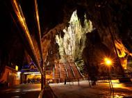 Selangor Sri Subramaniam Kovil limestone caves Batu Caves Malaysia Dec 2011 02