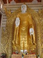 Asisbiz Dhammikarama Burmese Temple Standing Buddha Mar 2001 01