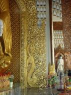Asisbiz Dhammikarama Burmese Temple Standing Buddha Mar 2001 02
