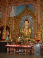 Asisbiz Dhammikarama Burmese Temple main Buddhas Mar 2001 01