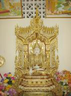 Asisbiz Dhammikarama Burmese Temple main Buddhas Mar 2001 05