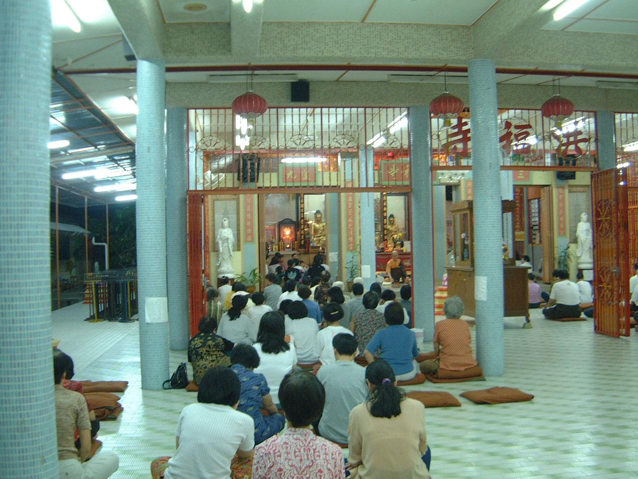 Penang Chinese Monastery Head Monk dharma talk 2001 03