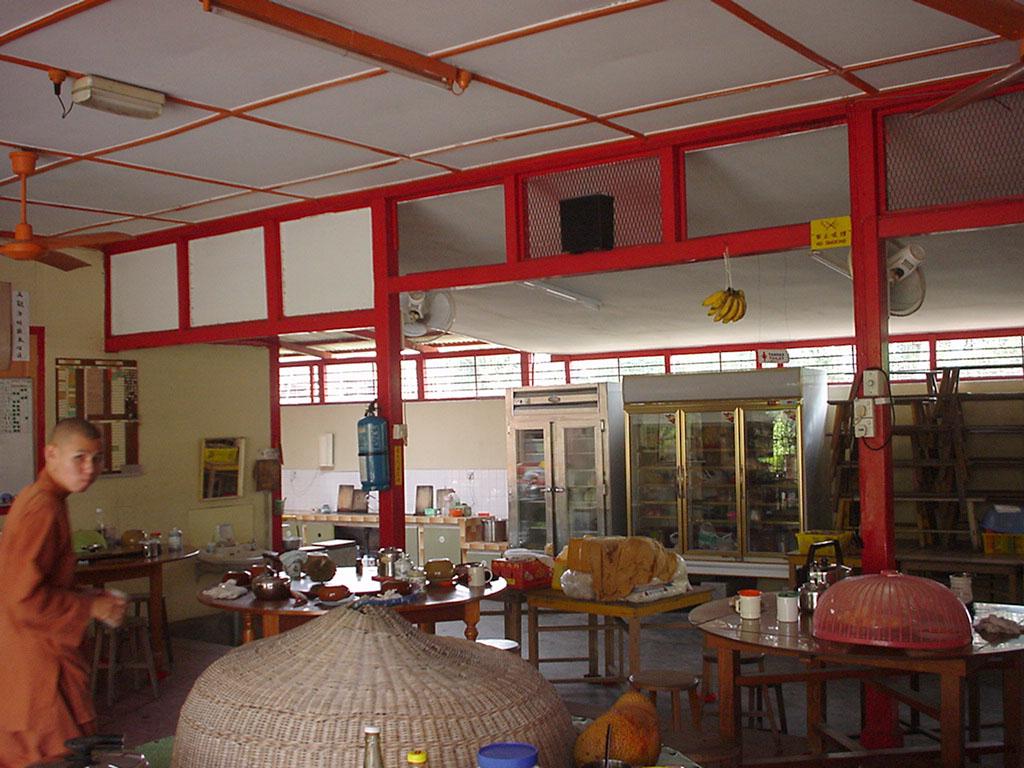 Penang Chinese Monastery monks eating hall 2001 01