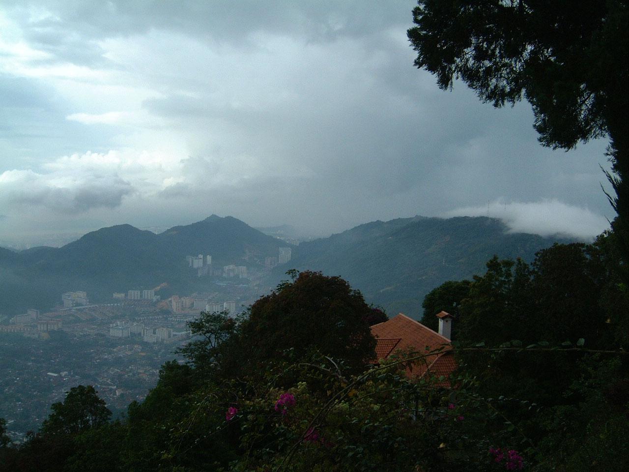 Penang Hill Bukit Bendera panoramic views Mar 2001 04