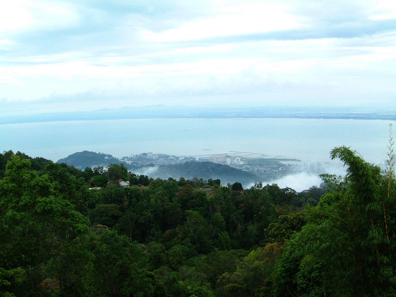 Penang Hill Bukit Bendera panoramic views Mar 2001 11