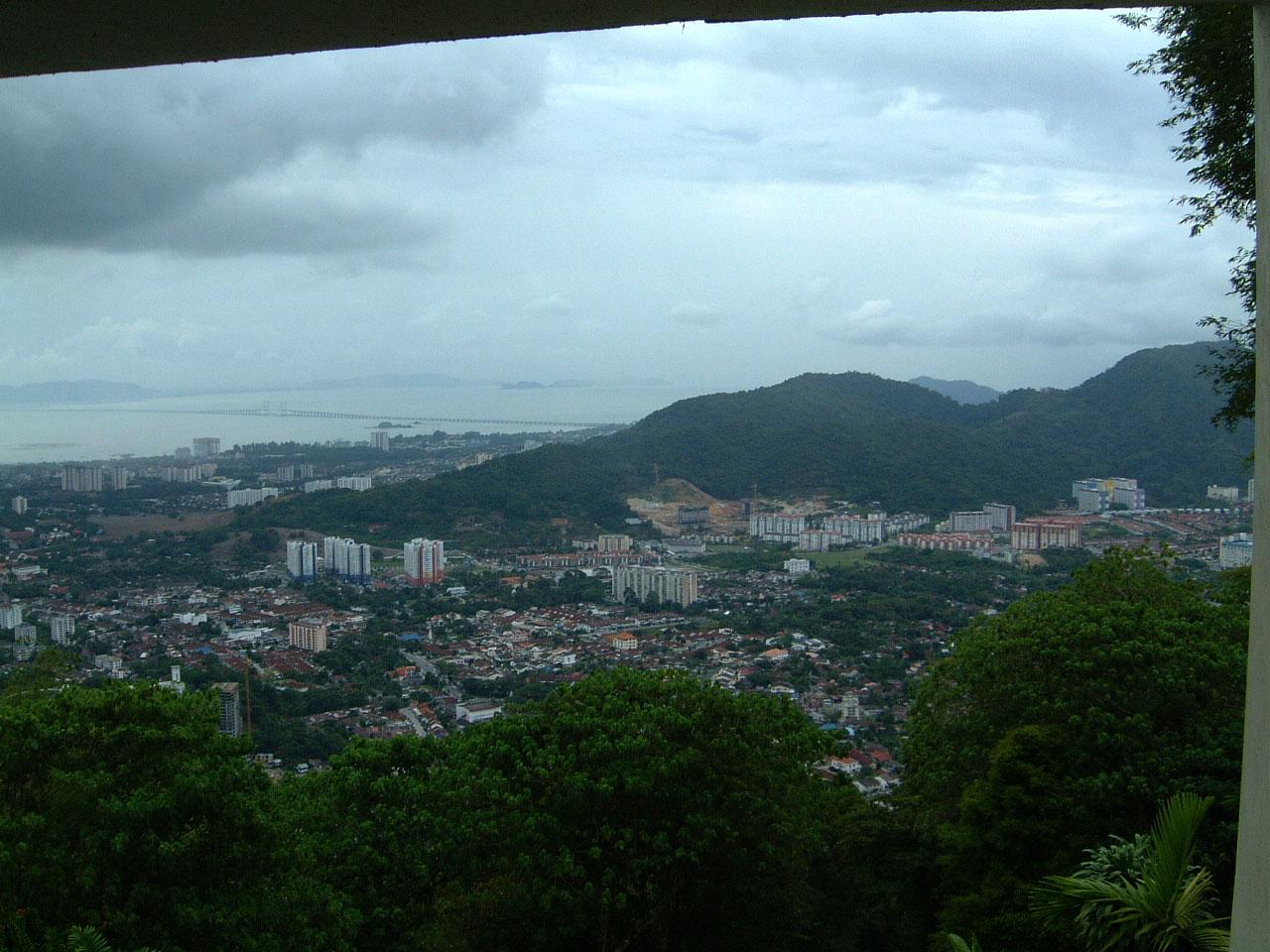 Penang Hill Bukit Bendera panoramic views Mar 2001 20
