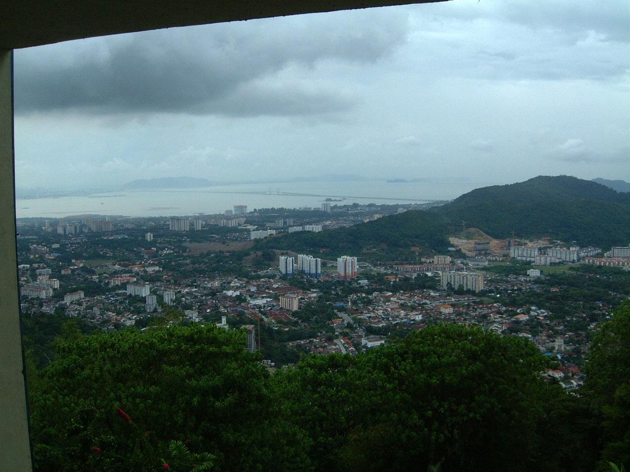Penang Hill Bukit Bendera panoramic views Mar 2001 21