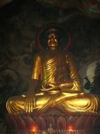 Asisbiz Ipoh San Bao Dong cave main Buddha Jul 2000 01